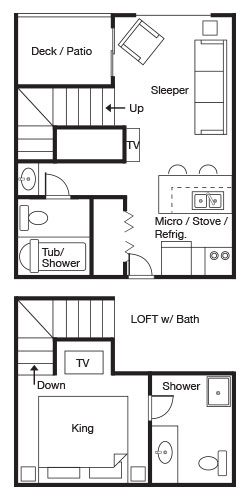 Flagship Loft - 2 Bath floorplan
