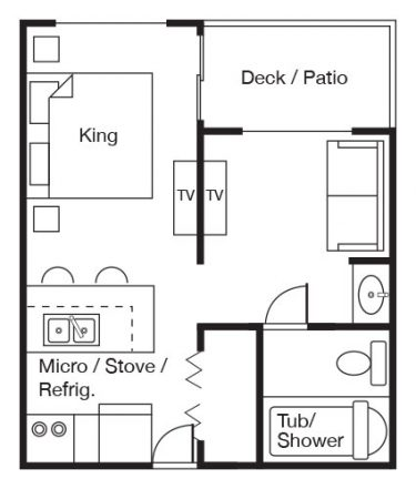Harbor Room floorplan